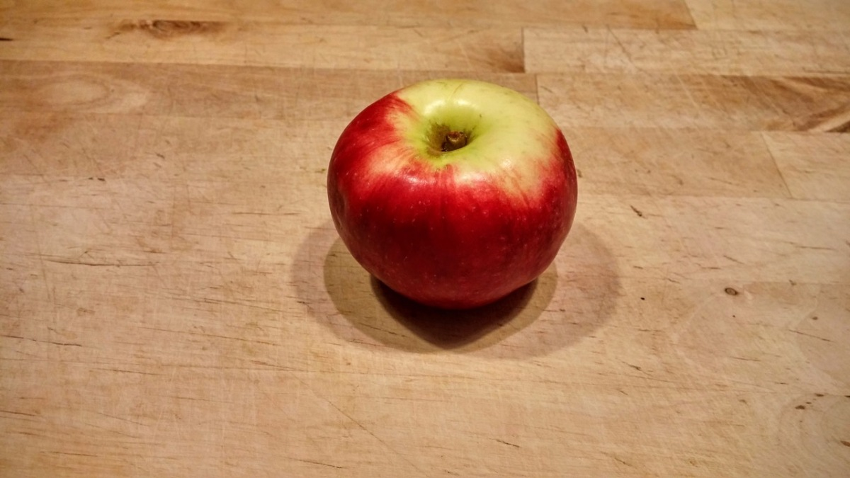 The fastest way to core and slice an apple.